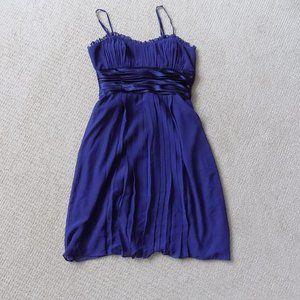 NEW DEMOCRACY ROUCHED PURPLE FLOWY DRESS